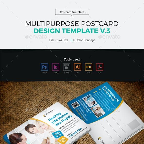 Postcard Design Template v3
