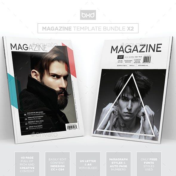 Magazine Template Bundle - InDesign Layout V5