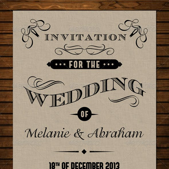Old Vintage Wedding Invitation