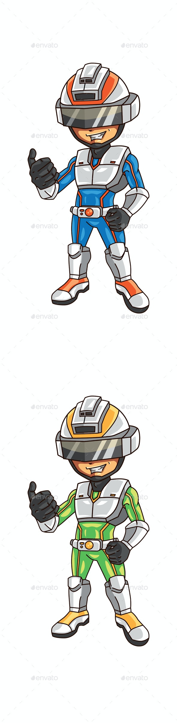 Super Boy Mascot - People Characters
