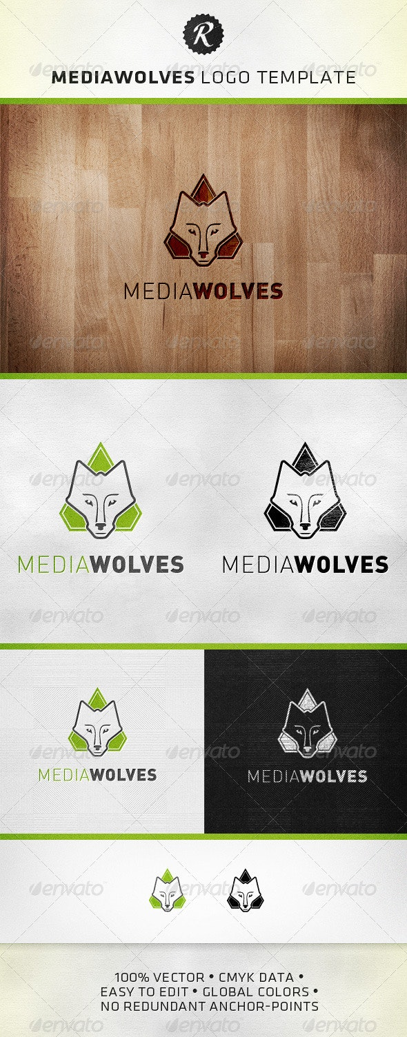 MediaWolves Logo Template - Animals Logo Templates