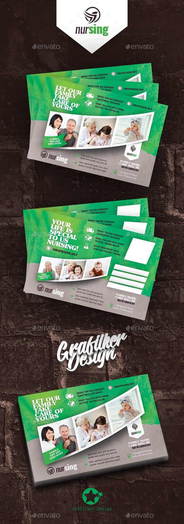 Nursing Home Postcard Templates - Cards & Invites Print Templates