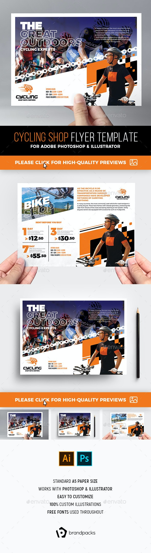 Cycling Shop Flyer Template - Sports Events