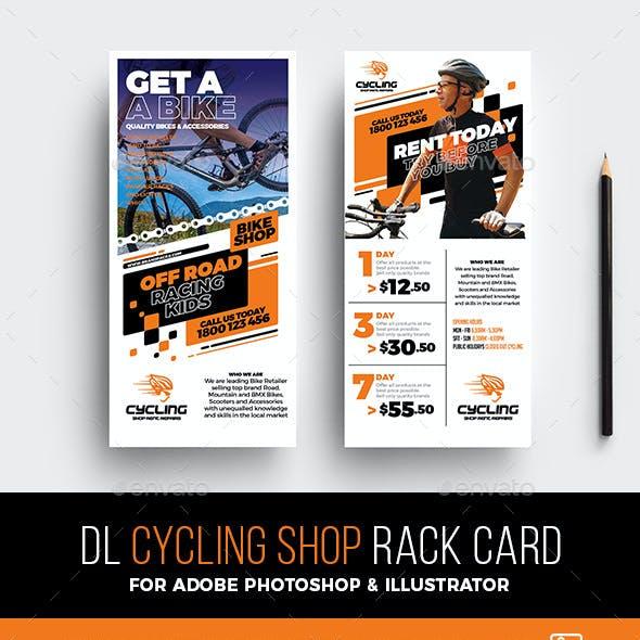 Cycling Shop Rack Card Template