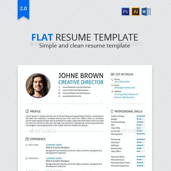 Flat | Resume
