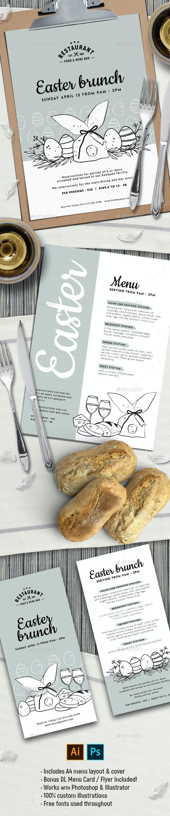 Easter Menu Template - Food Menus Print Templates