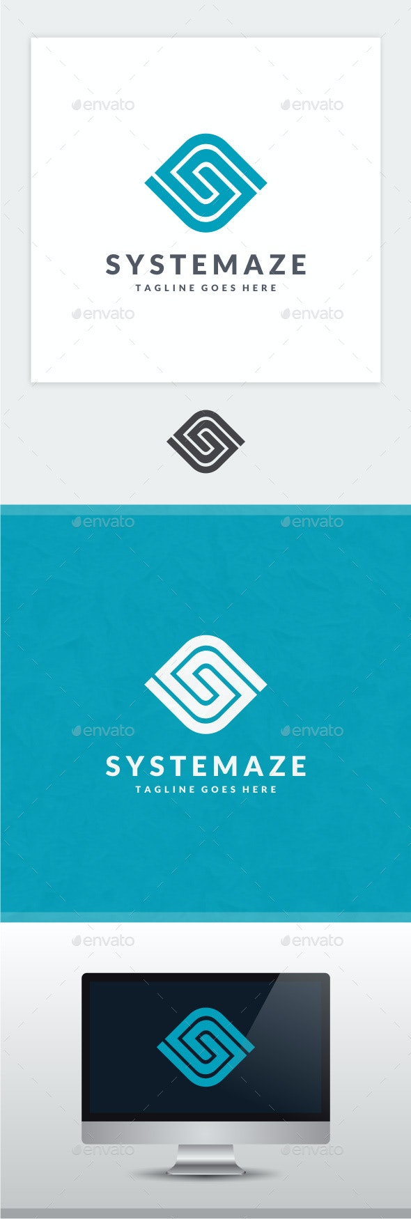 Systemaze - Letter S Logo - Letters Logo Templates