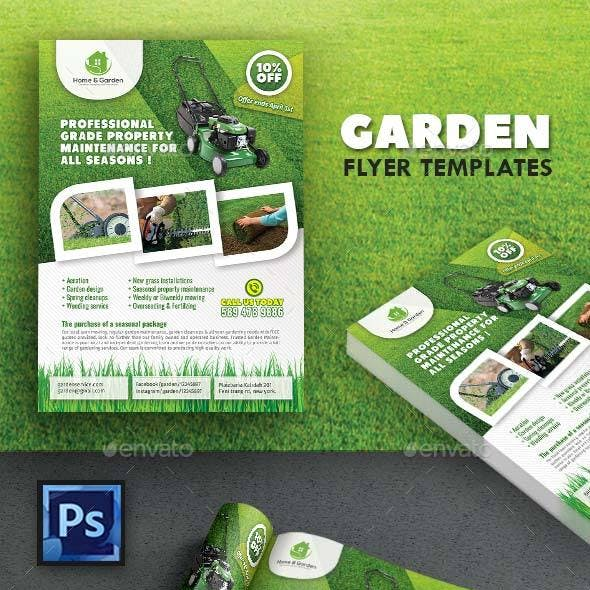 Garden Landscape Flyer Template