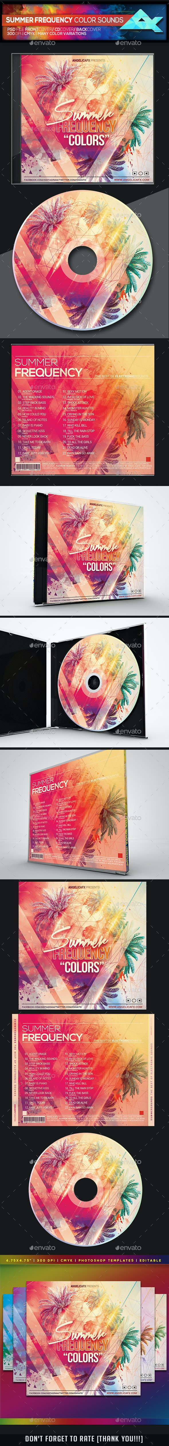 Summer Frequency Color Sounds CD/DVD Template