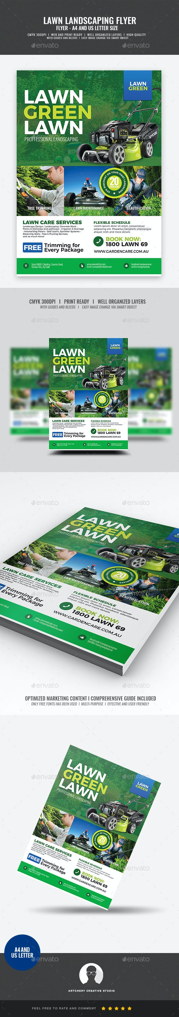 Landscaping and Lawn Care Flyer - Corporate Flyers