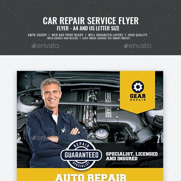 Car Repair and Servicing Flyer