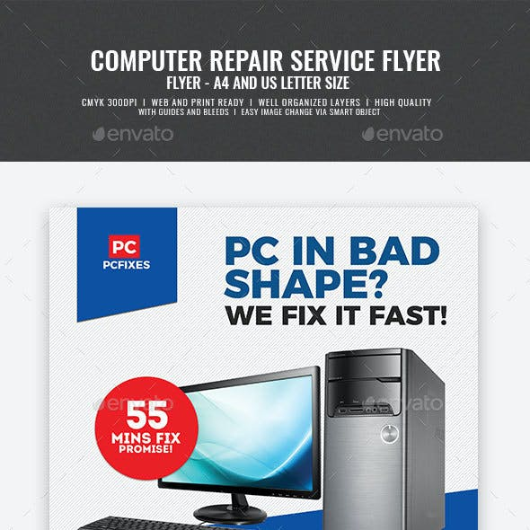 Computer Repair and Servicing Flyer