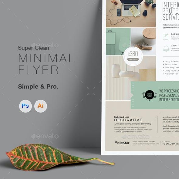 Multipurpose Minimal Clean Flyer