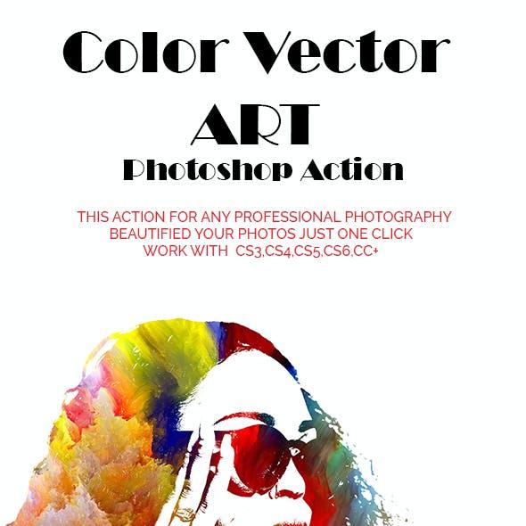 Color Vector ART Photoshop Action