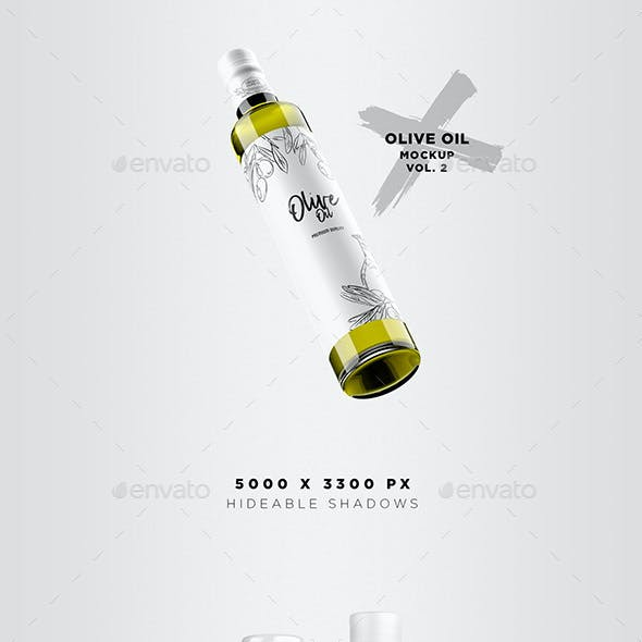 Olive Oil Mockup Pack - Vol. 2