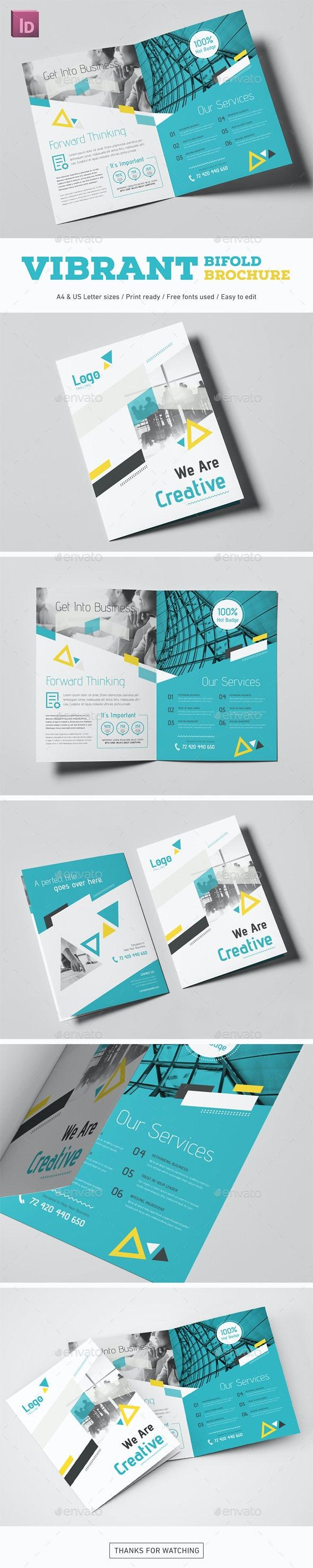 Vibrant Bifold Brochure - Corporate Brochures