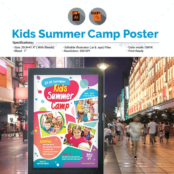Kids Activities | Kids Camp Poster Template