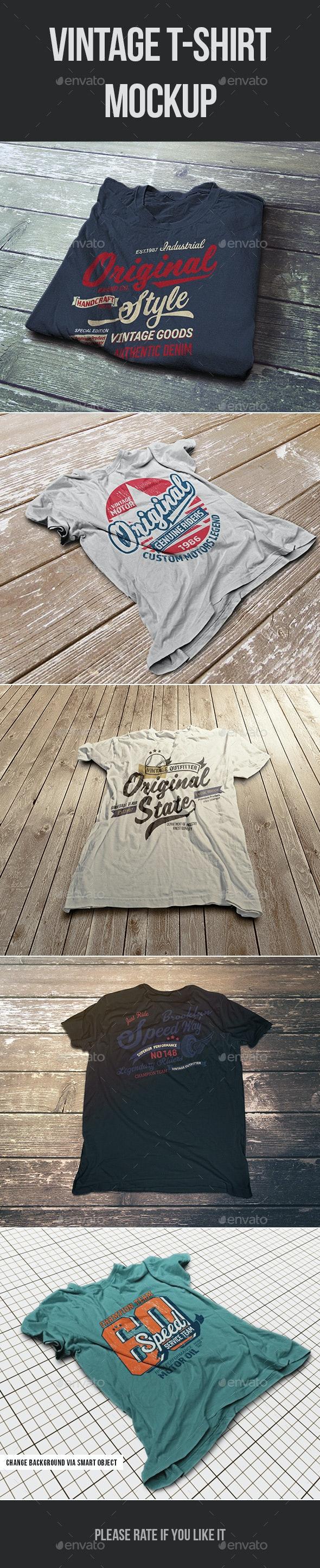 Vintage T-Shirt Mockup - T-shirts Apparel