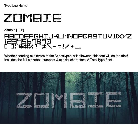 Zombie True Type Font - Sans-Serif Fonts