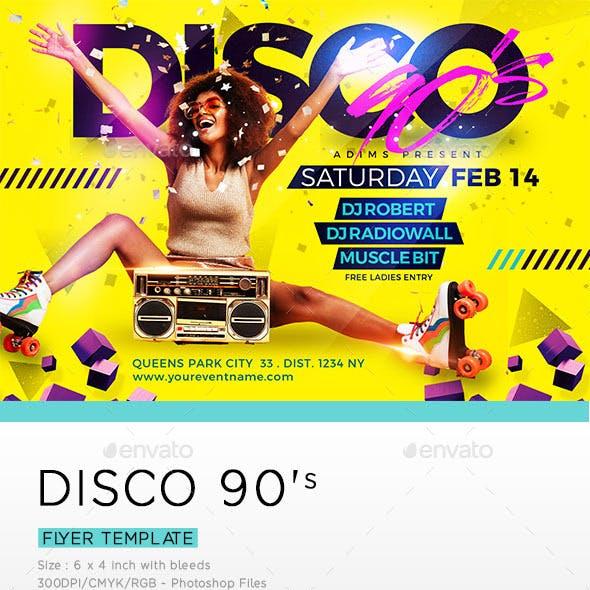 DISCO 90's Flyer Template