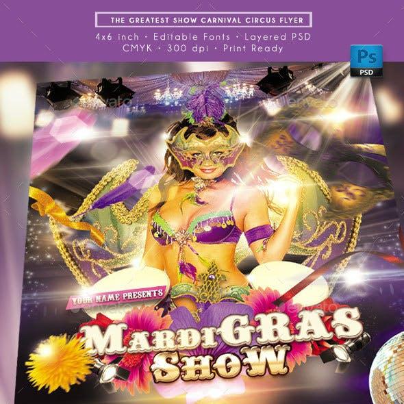 Mardi Gras Show Flyer