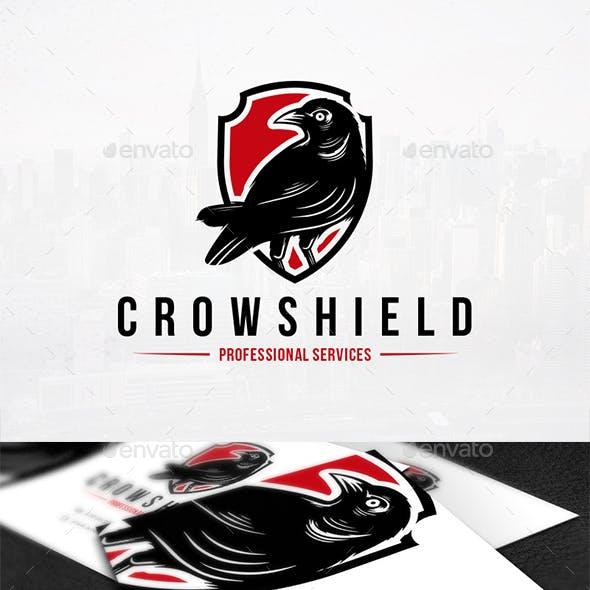 Crow Shield Logo Template