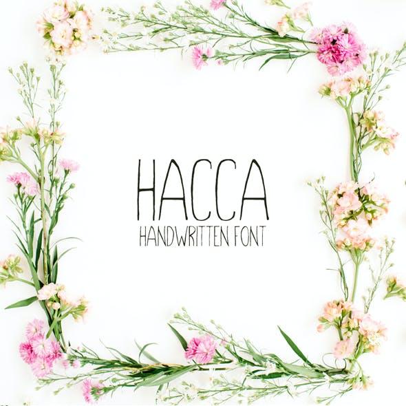 Hacca Handwitten Sans Serif Font
