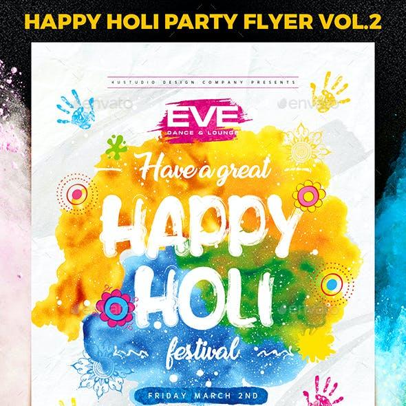 Happy Holi Party Flyer vol.2