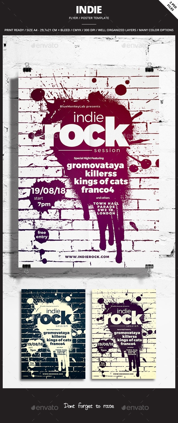 Indie Flyer / Poster 26 - Events Flyers