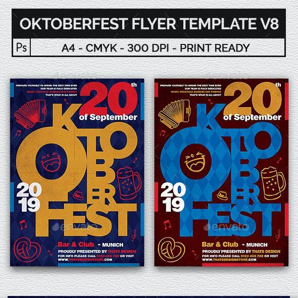 Oktoberfest Flyer Template V8