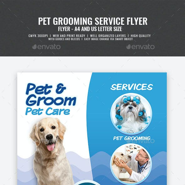 Pet Care and Grooming Services Flyer