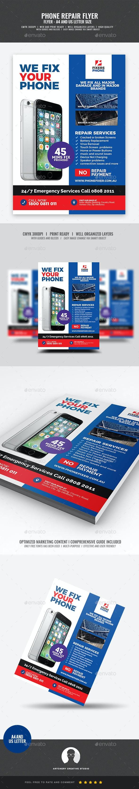 Phone Repair Shop Flyer - Corporate Flyers