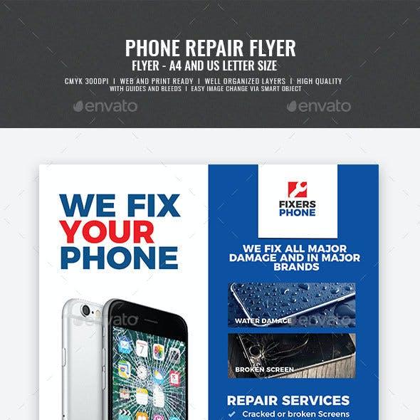 Phone Repair Shop Flyer