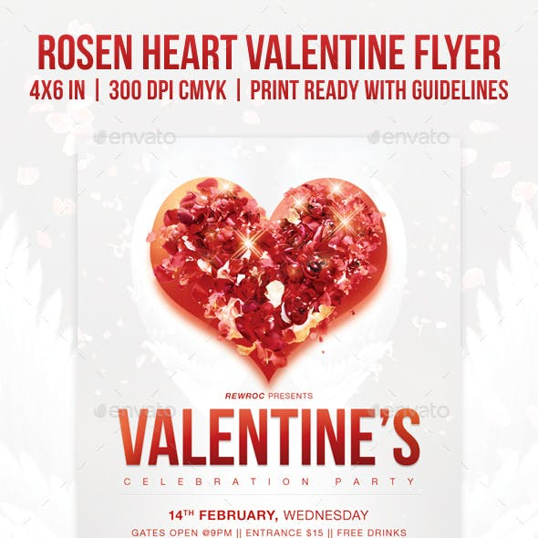 Rosen Heart Valentine Flyer