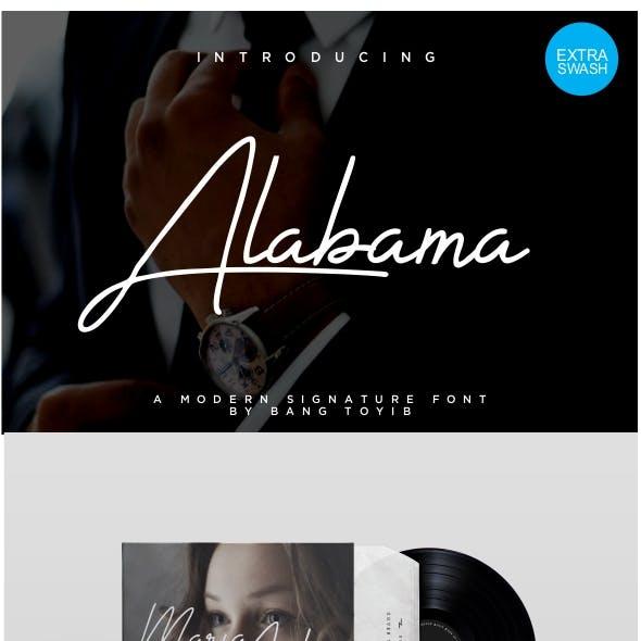Alabama - Signature Font