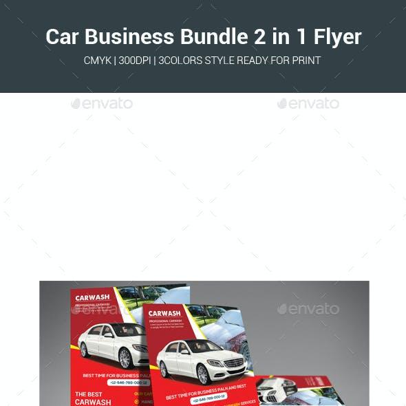 Car Business Bundle 2 in 1 Flyer