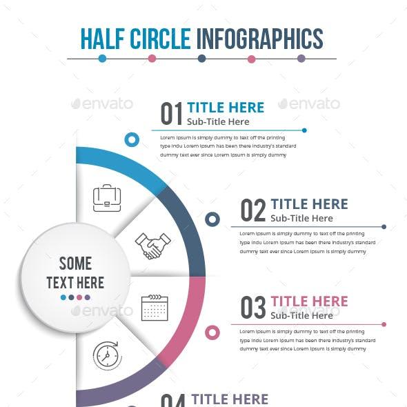Half Business Circle Infographics (4 Steps)