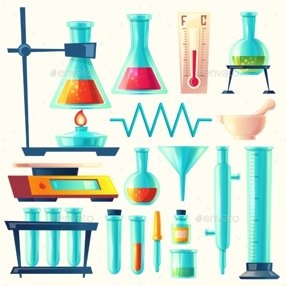 Vector Cartoon Laboratory Equipment - Miscellaneous Vectors