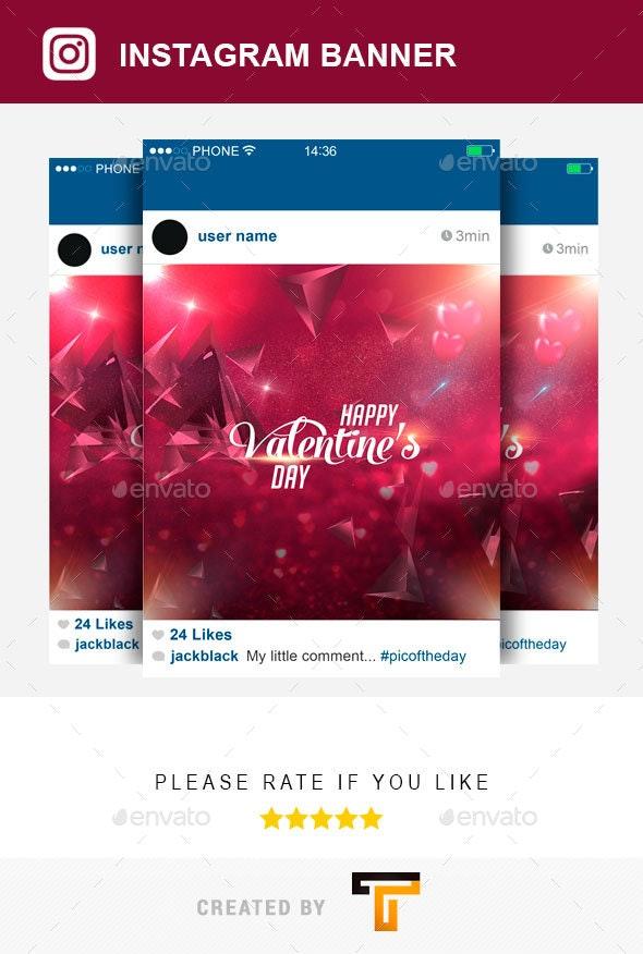 Valentines Instagram Banner
