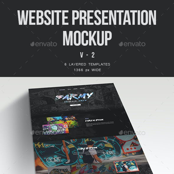 Website Presentation Mockup v.2