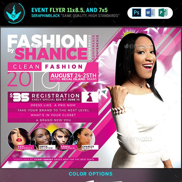 Fashion Conference Flyer Template 2