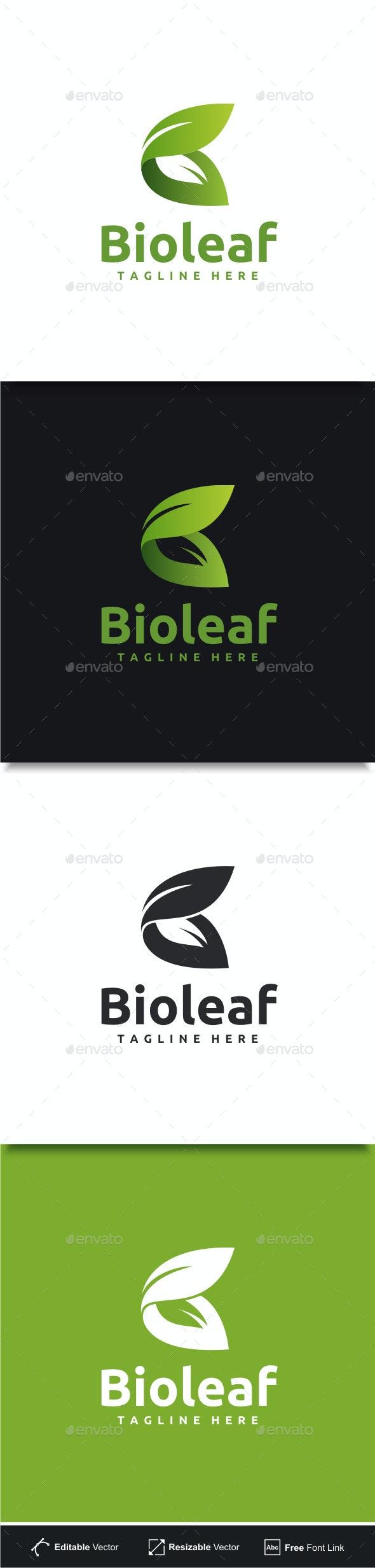 Bio Leaf - Letter B Logo - Nature Logo Templates