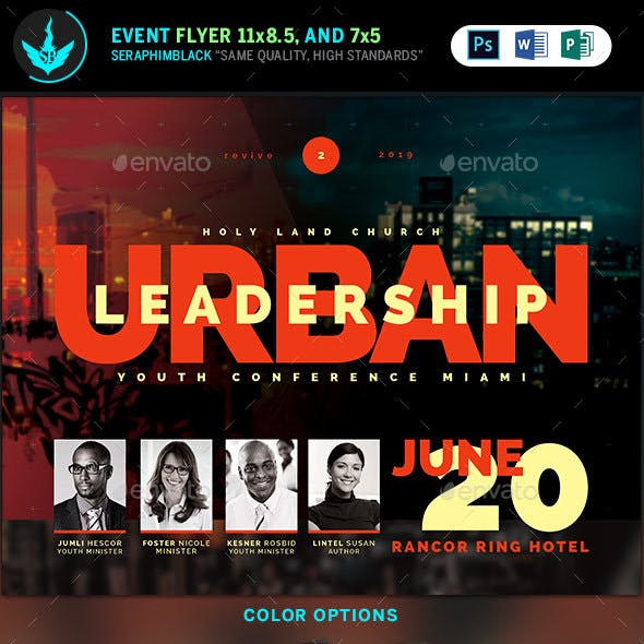 Urban Youth Leadership Conference Church Flyer Template