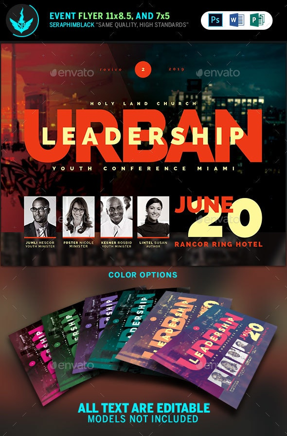 Urban Youth Leadership Conference Church Flyer Template - Church Flyers