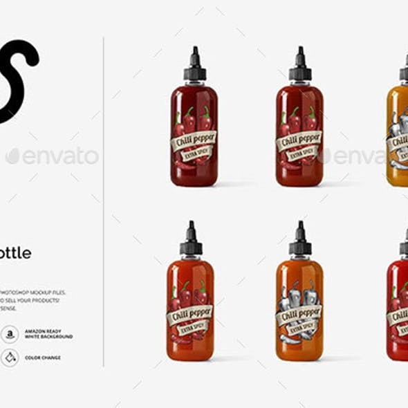 Sauce Bottle Mockup Template