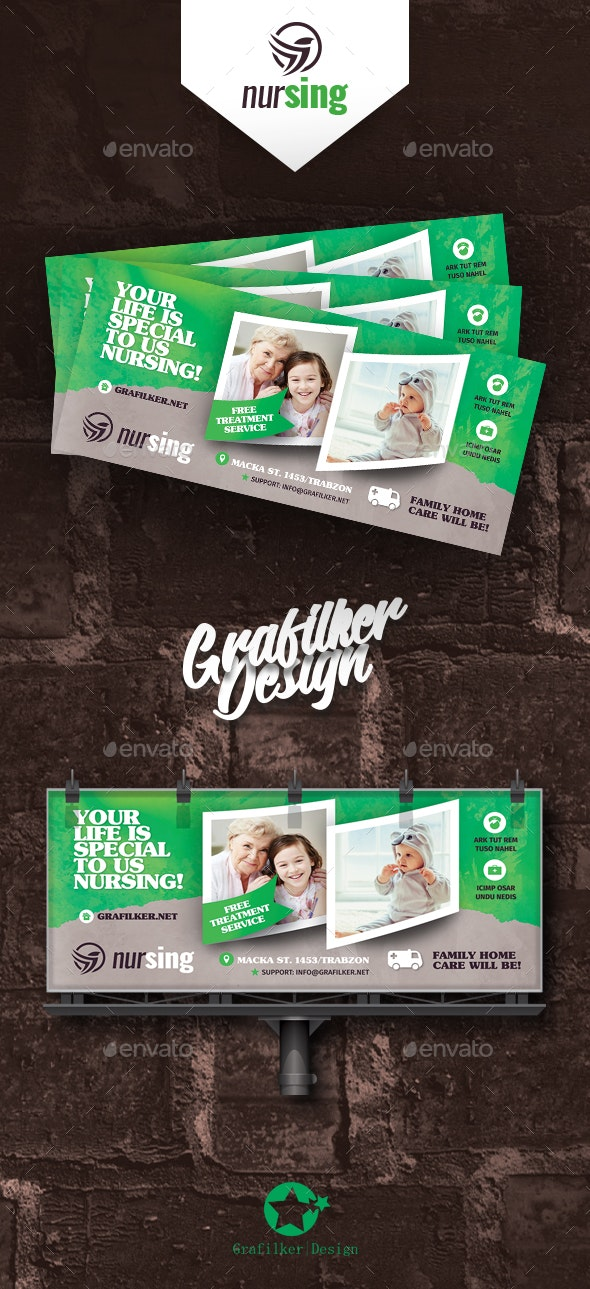 Nursing Home Billboard Templates - Signage Print Templates