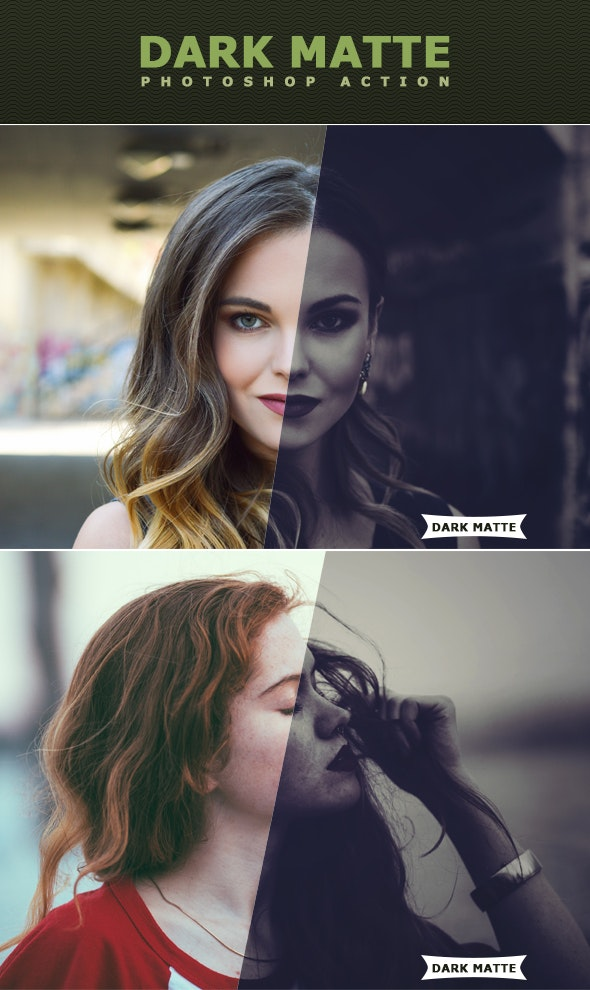 Dark Matte Action - Photo Effects Actions