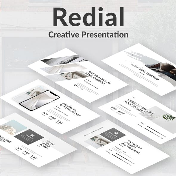 Redial Creative Powerpoint Template