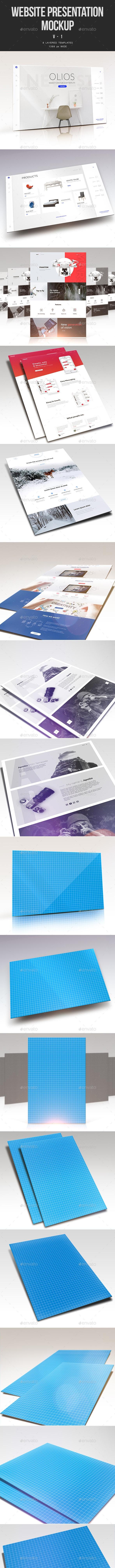 Website Presentation Mockup V.1 - Website Displays