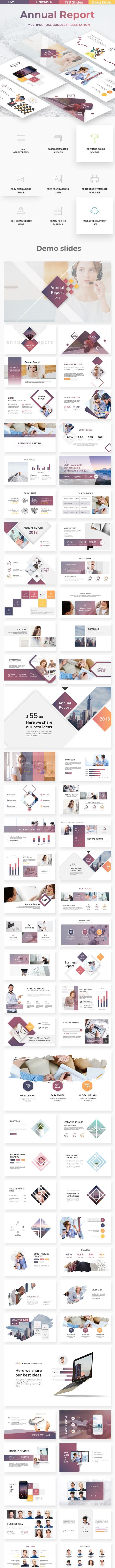 Annual Report - Business Google Slide Template - Google Slides Presentation Templates